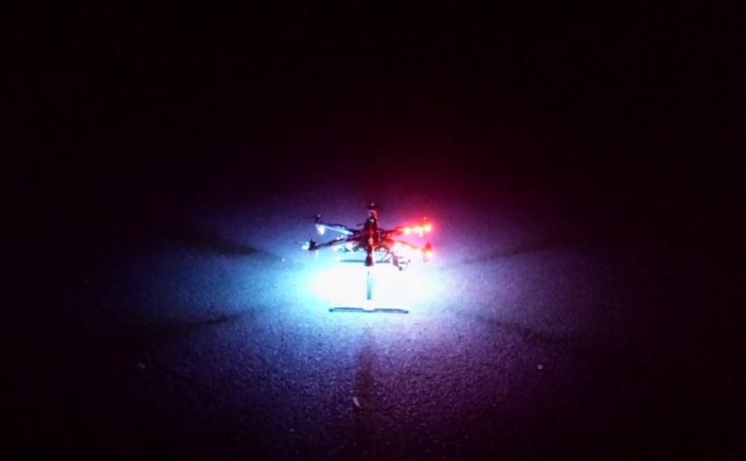 Ein Nachtflug der besonderen Art – Kopter-Disco