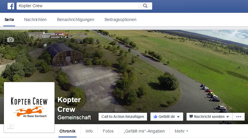 Kopter Crew goes Facebook