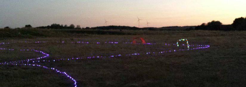 Nachtflug in Sembach – LED FPV-Racing Strecke